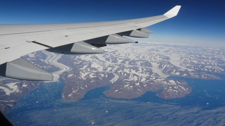 Survol du Groenland