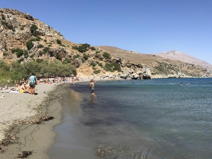 La plage de Preveli