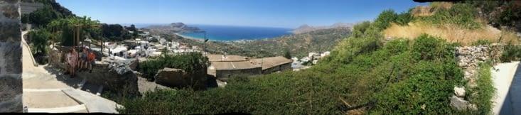 Panorama de Myrthios et la baie de Plakias
