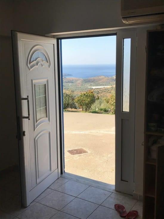 La vue en ouvrant la porte