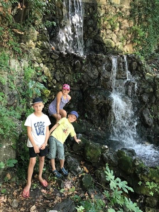 Une des rares photos possible aux chutes de Argiroupoli