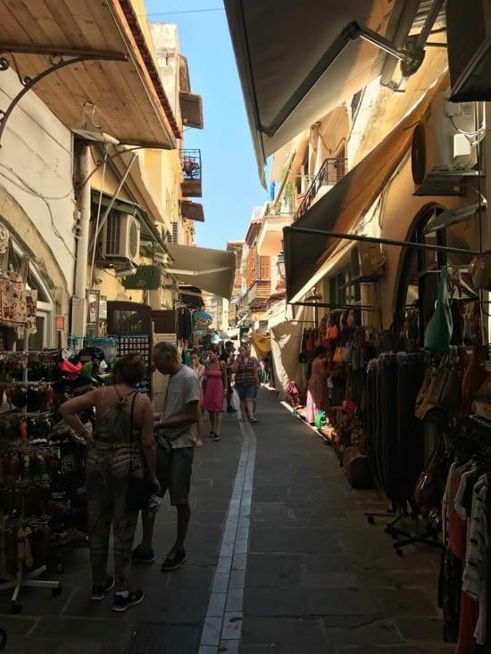 Une ruelle type de la vieille ville de Réthymnon