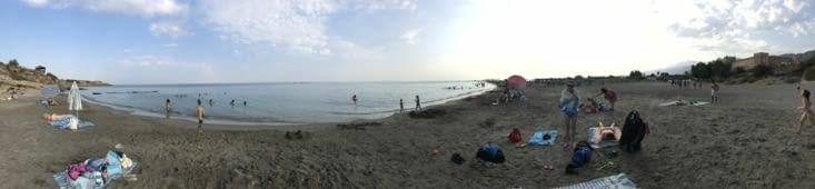 La plage de Frangokastello