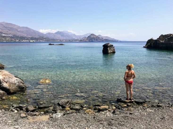 L'eau cristalline de la plage ...