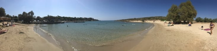 Panorama de la plage de
