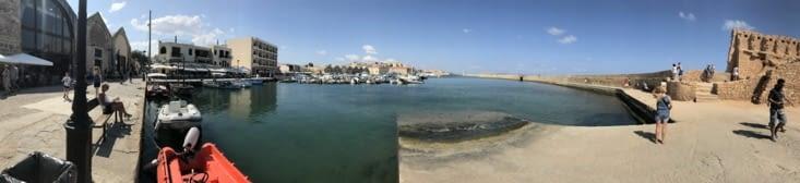 Vue du port vénitien de La Canée