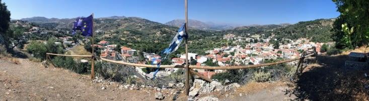 Panorama du village de Spili