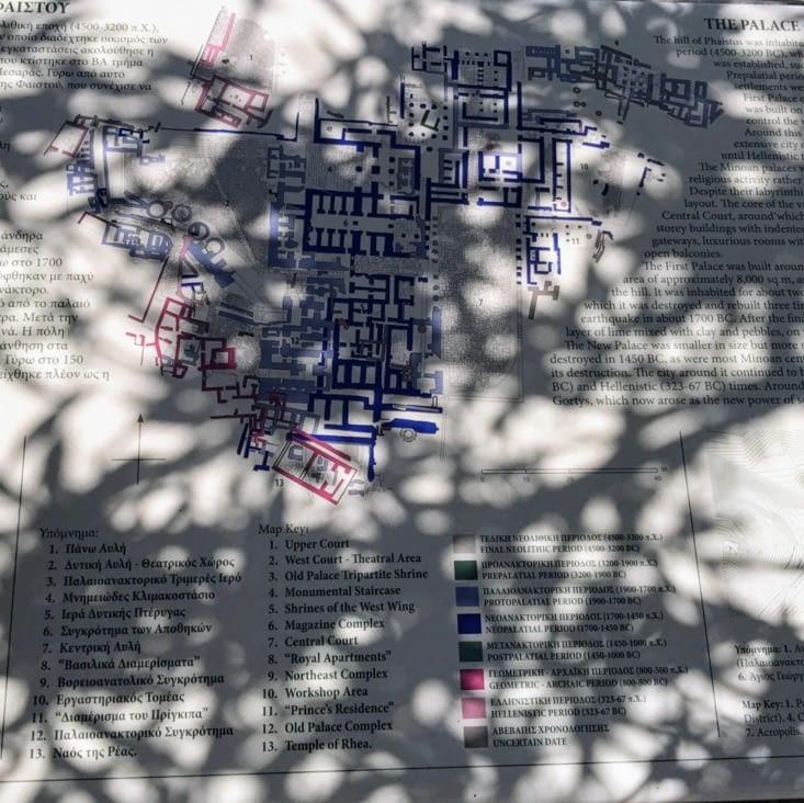 Plan du site de Phaïstos