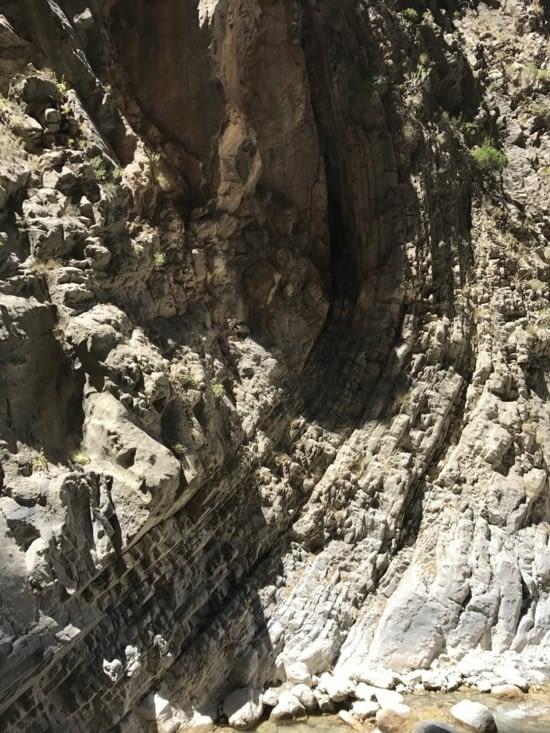 Formation géologique étonnante