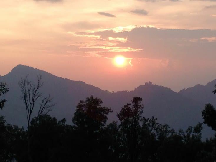 Vue tardive sur l'Annapurna