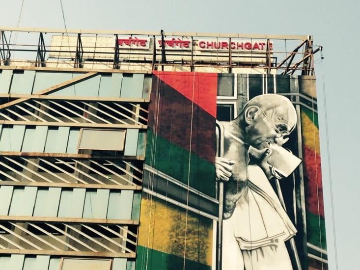 Gandhi au cœur de la ville