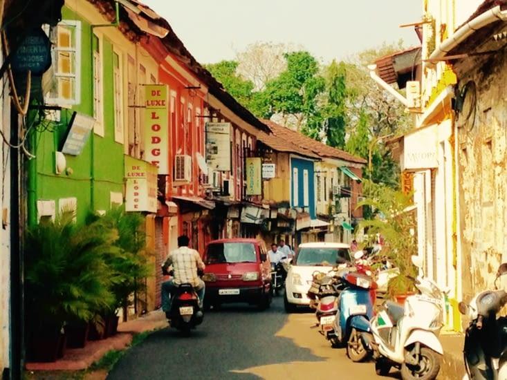Les ruelles de Panaji ont une saveur portugaise.