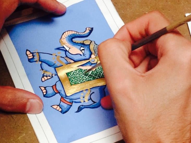 Initiation à l'art de la peinture miniature rajput