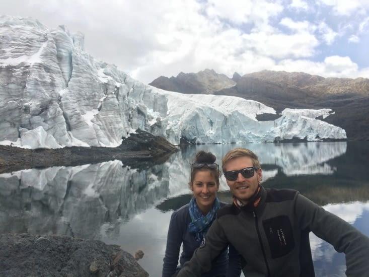Bien arrivés au glacier