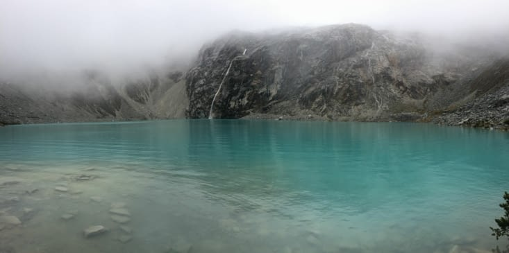 La fameuse laguna 69...sous la pluie et la brume