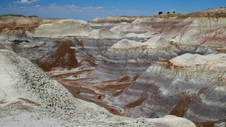Le blue mesa trail, au milieu des formations de toutes les couleurs