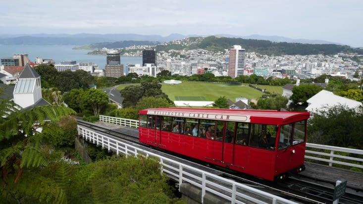 Le fameux cable car de Wellington