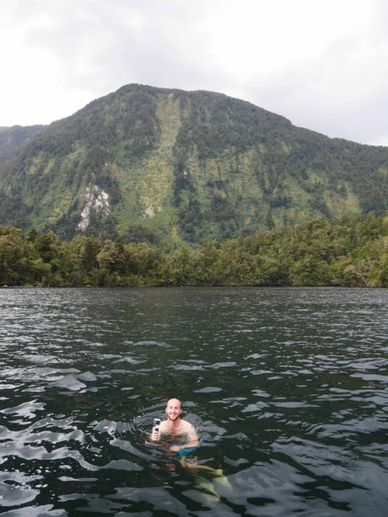 La baignade au Doubtful Sound