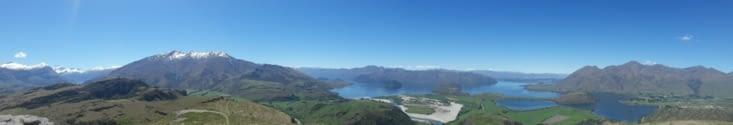 Un panoramique de Wanaka (cliquez dessus pour mieux voir)