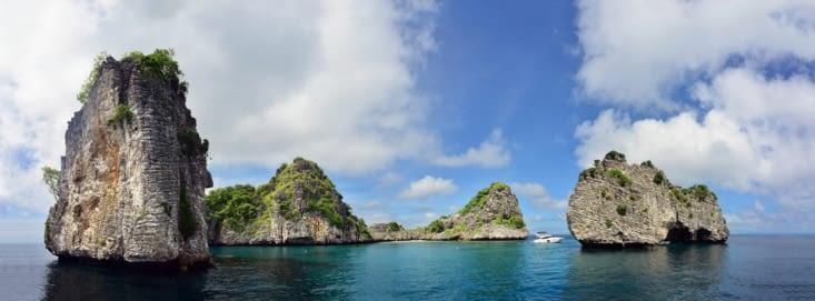 Koh Haa, le lieu du snorkeling d'Emilie et de mes 3e et 4e plongées !