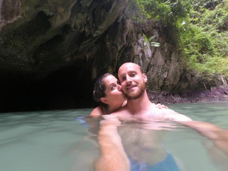 La sortie de la grotte d'Emerald Cave