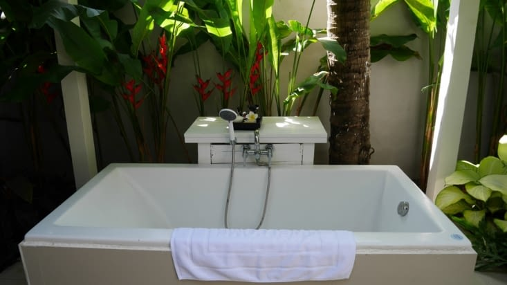 La baignoire extérieure qui fait plaisir