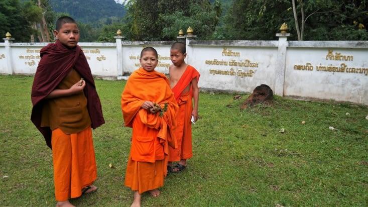 Des jeunes moines avec qui nous avons partagé quelques instants