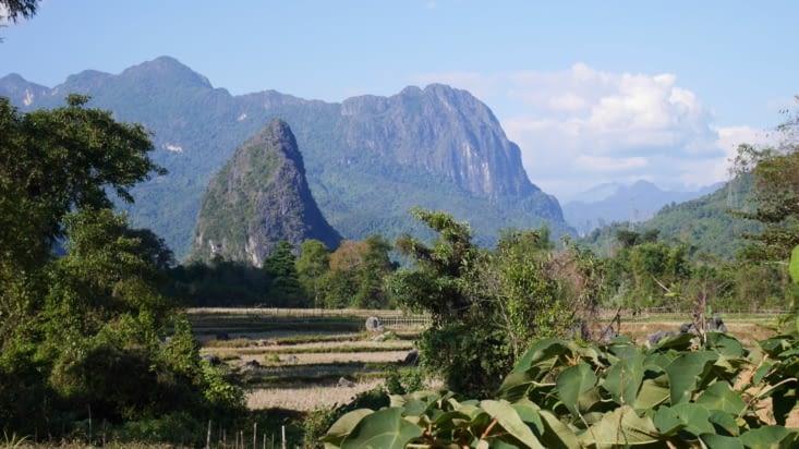 Les environs superbes de Vang Vieng