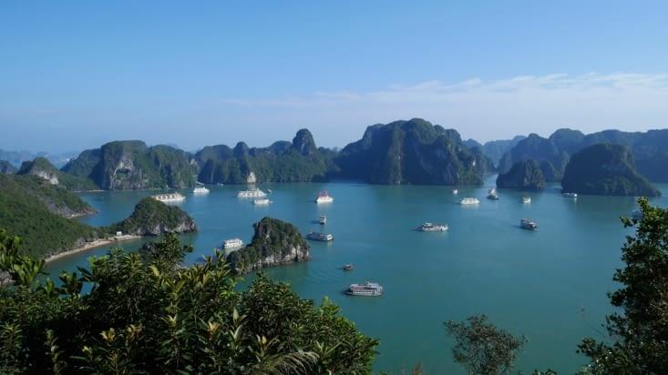 Une superbe vue et un aperçu du nombre de bateaux