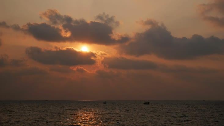 Le traditionel coucher de soleil