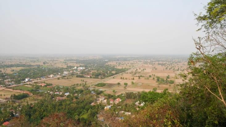 Le beau panorama sur la campagne cambodgienne