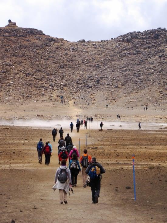 Marcheurs du Tongariro