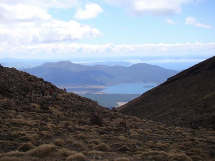 Vue sur le lac Taupo