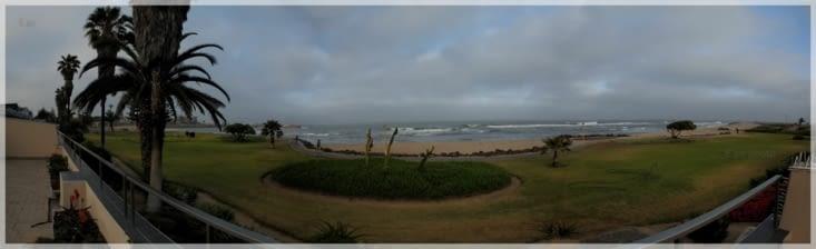 la terrasse, la promenade, l'océan