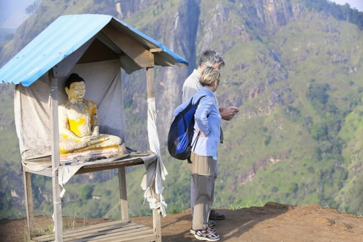 Bouddha sur le little Adam's peak