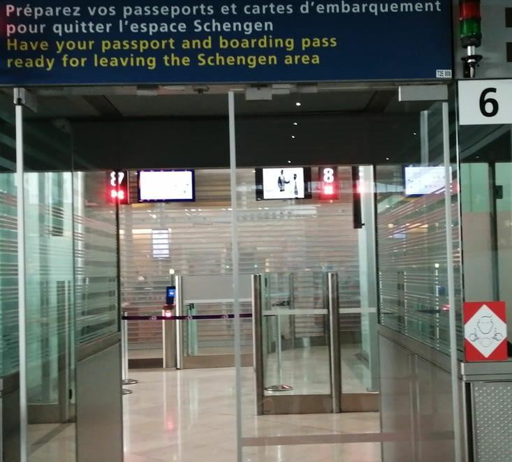 Je quitte l'espace Schengen pour...