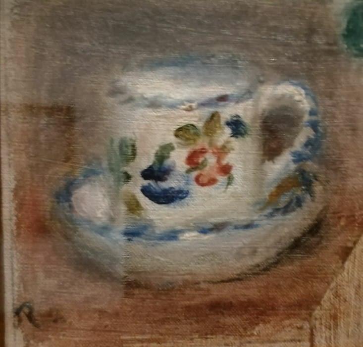 Tasse sur une soucoupe. Renoir