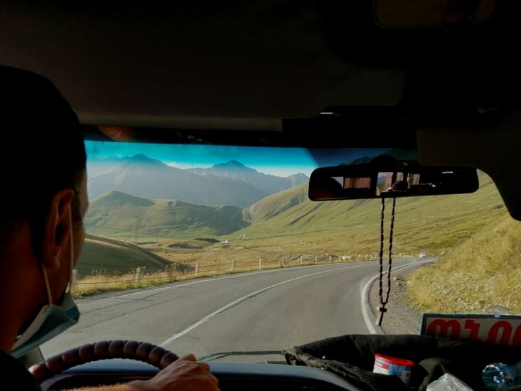 La route Tbillisi Stepantsminda