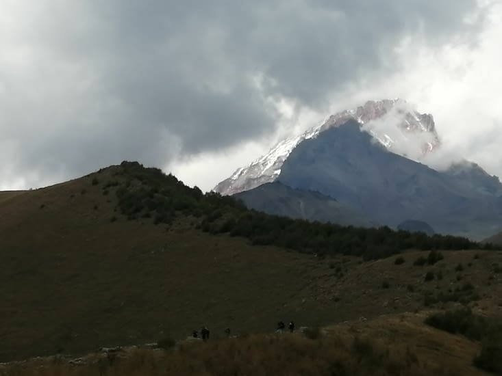 Le sommet du Kazbek est très pudique