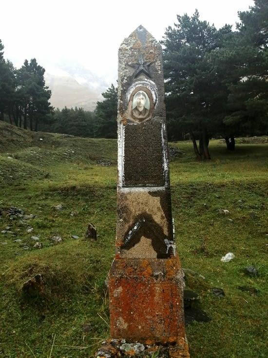 Un petit cimetière dans la foret