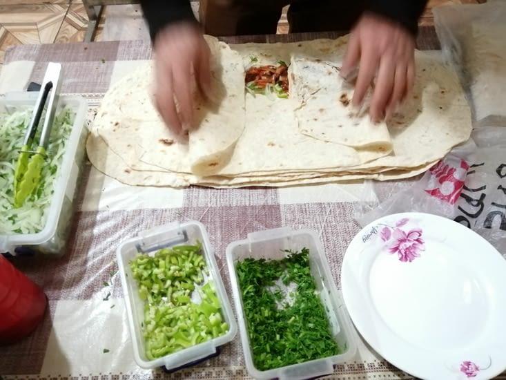 Fabrication de chachliks