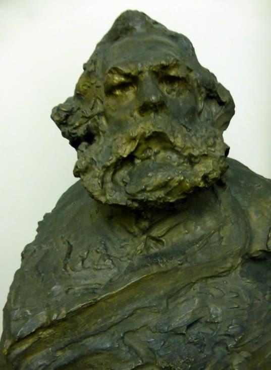 "et des sculpteurs ! Anna Golubinka 1905 "" Karl Marx"""