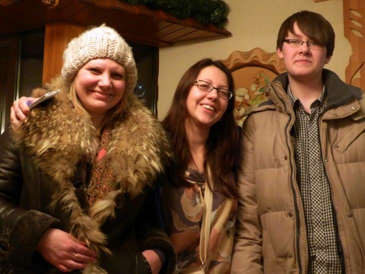 Une soirée avec Julia, son fils Nikita et Polina son  amie