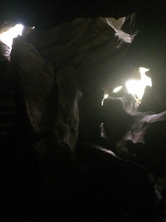 Au bout de la deuxième grotte