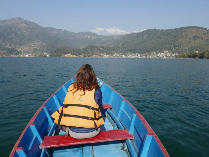 Vue sur les montagnes des Annapurnas