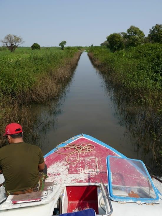 Dernier canal avant le lac Tonle Sap