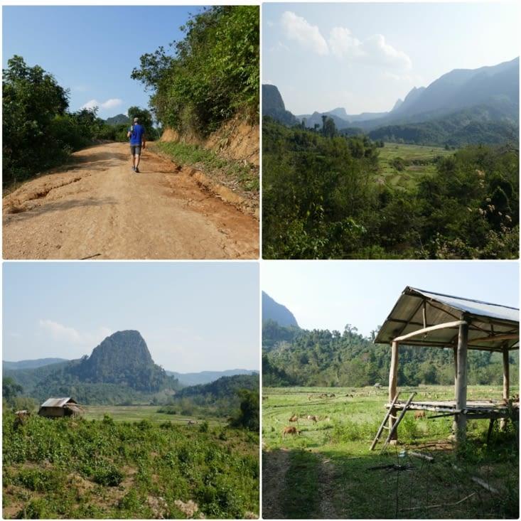 Petite randonnée pour rejoindre un village
