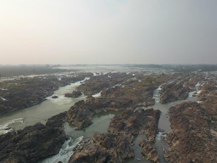 Vue du drone du Mekong