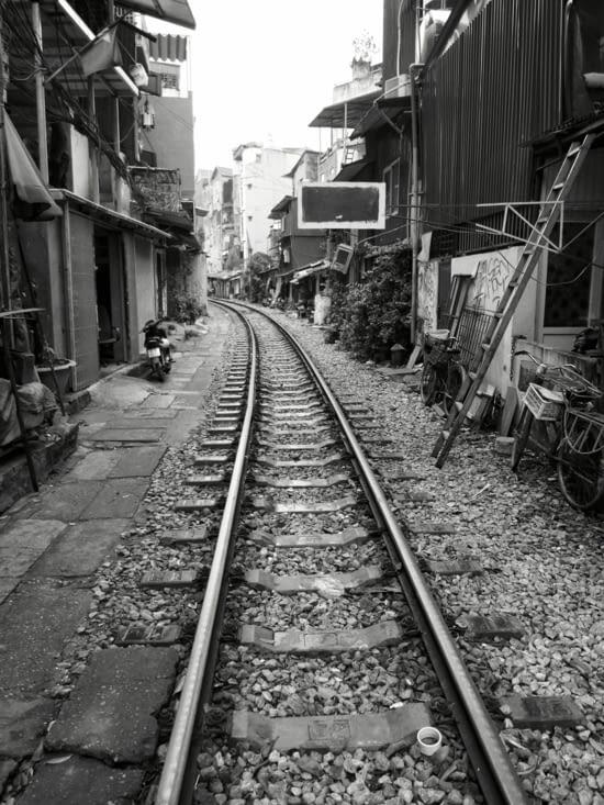 Le train dans la ville