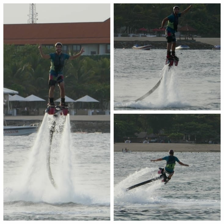 Mathieu sur un Fly board
